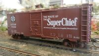 "Athearn HO BB Custom Lettered 40' Boxcar, Santa Fe, ""Super Chief"" Upgraded, Exc."