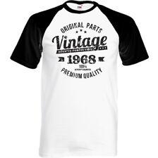 vintage año 1968 CALIDAD PREMIUM Hombre 50 envejecido Cumpleaños t-shirt regalo