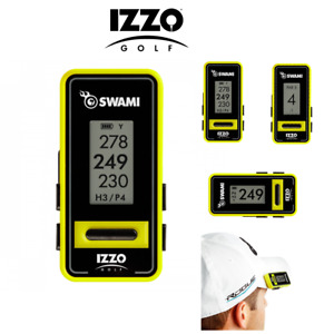 IZZO SWAMI Voice Clip Golf GPS - With Audio!  Preloaded With 38,000 Courses NEW!