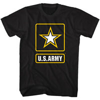 US Army Gold Star Badge Logo Men's T Shirt America Military Soldier Armed Forces