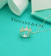 Tiffany & Co. Argento Sterling Charm Ciondolo Corona 18 Pollici Collana
