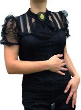 Kurzgröße Damenblusen,-Tops & -Shirts im Blusen-Stil mit Baumwolle ohne Muster