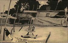 NIENDORF Ostsee Gruss aus dem Wirtshaus AK ca. 1905/10 alte Postkarte Humor AK