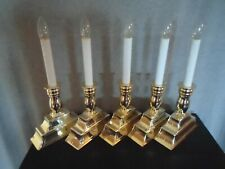 Lot of 5 Bethlehem Lights Battery Operated Window Candle Timer/Adjustable Height