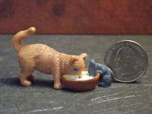 Dollhouse Miniature Pet Cat & Mouse Animals 1:12 inch scale K34  Dollys Gallery