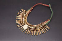 Naga mala Tribal Ethnic ceremonial Tharu tribe belly dance light gold old coin