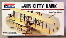 Monogram approx 1/40 Wright Brothers Kitty Hawk *Vintage* Plastic Model Kit