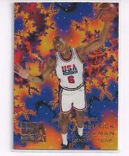 RARE 1994 FLAIR USA U.S.A. BASKETBALL DERRICK COLEMAN #16 - ERROR CARD