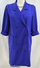 LESLIE FAY Womens Long Over Dress Coat light car jacket trench ponte knit SZ 10