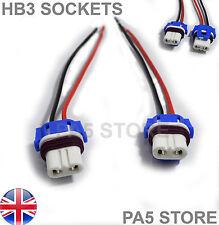 2x HB3 CABLATO Socket CERAMICA LAMPADINA titolari LED HID XENON 12V PROIETTORI FENDINEBBIA luce anteriore