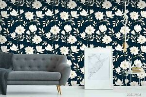 3D Floral Seamless Wallpaper Wall Mural Removable Self-adhesive Sticker1058