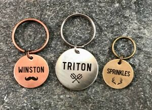 Custom Engraved Pet ID Tags Dog Name Tag Personalized Cat Tag Metal Name Tag