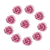 50pcs soie artificielle tête de fleur de rose bricolage décoration de