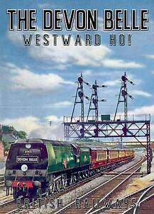 The Devon Belle , Old Railway travel advertising wall art poster reproduction.