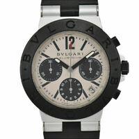 Auth BVLGARI ALUMINUM AC38TA Chronograph Date Automatic Men's Watch R#93972