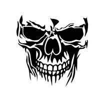 Small Skull vinyl car Decal / Sticker