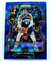 Rudy Gobert 2020-21 Prizm Blue Cracked Ice #53 Utah Jazz  Panini NBA 52/125