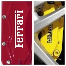 8 pc set Ferrari Brake Caliper Vinyl Sticker Decal Logo Overlay All Ferrari 8pc
