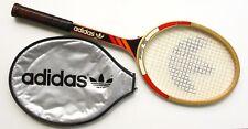 Raquette Tennis bois ancienne - ADIDAS Ilie Nastase - Housse - Manche L3 4 3/8