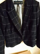 Zara Wool Checked Coats & Jackets Blazer for Women