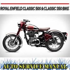 ROYAL ENFIELD CLASSIC 500  CLASSIC 350 BIKE WORKSHOP SERVICE REPAIR MANUAL ~ DVD