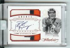 2014 Panini Flawless Ruby Greats Patch Autograph Peyton Manning #07/15 Broncos