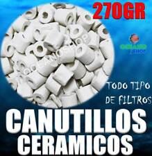 CANUTILLOS 270GR CERAMICOS CERAMICA ACUARIO TODO tipo FILTROS ESPECIAL BACTERIAS