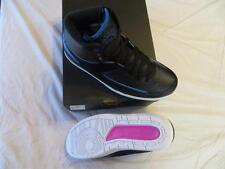 "NIKE MEN'S AIR JORDAN 2 RETRO ""RADIO RAHEEM"" SZ 9.5 BLK/PHOTO BLUE-W RET$190 NIB"