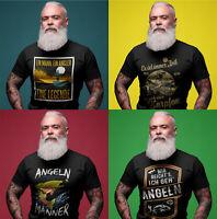 T-Shirt Angler|Geschenk|Angeln|Fischen|Witzig Fisch Spruch|Sprüche|S-5XL| Expess