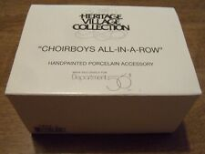 """Dept.56 Heritage Village Collection """"Choirboys All-In-A-Row"""" Porcelain 5889-2"""