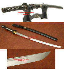 PRACTICAL MUSASHI MUSHA MITSUDOMOE SAMURAI KATANA SWORD WITH STAND AND SWORD BAG