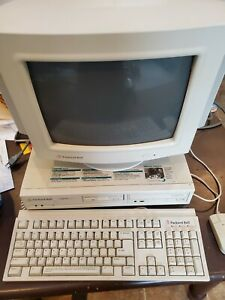 VINTAGE PACKARD BELL Computer,MONITOR WITH SPEAKER With Legend 406 CD, Keyboard
