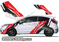 Ford Fiesta large Tiger stripes 019 decals stickers graphics