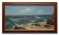 ERIC CARLBERG / SEASCAPE - Original Swedish Oil Painting