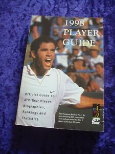 ATP TENNIS TOUR OFFICIAL GUIDE 1998 PLAYER GUIDE.PAPERBACK WIMBLEDON SPORTS.BOOK