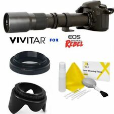 VIVITAR 500MM PRESET ZOOM LENS FOR CANON EOS REBEL 1100D 12000D T5 T6 T7 7D 80D