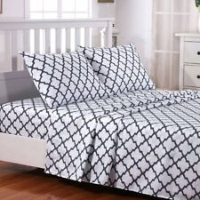 4 Piece Egyptian Hotel Quality Luxury Bedding Set Sheets Set Deep Pocket Queen