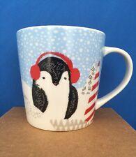 Starbucks Christmas Penguin Ceramic Cup 8 Oz. 2016! NWT!