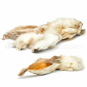 Antos Rabbit Ears Natural with fur Hair Hypoallergenic Dog Treat Chews