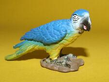 14) Schleich Schleichtier Blue Parrot Bird Vogel Papagei Ara blau 14188