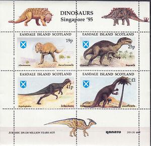 Easdale Island Singapore 95 Dinosaurs A Mini Souvenir Sheet MNH Low Shipping