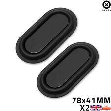 2x Bass Passive Diaphragm Speaker Vibrating Rubber Vibration Plate 78x41mm UK