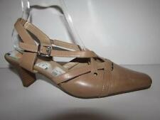 Clarks Patternless Slingbacks 100% Leather Heels for Women