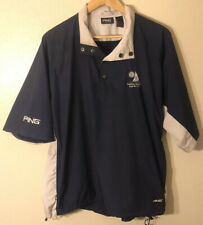 PING COLLECTION Mens Half Sleeve Wind Rain Pullover Golf Jacket Size Large