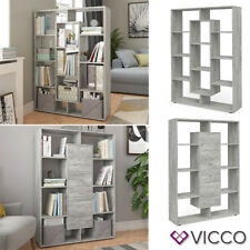 VICCO Raumteiler 11 Fächer Beton Bücherregal Standregal Wandregal Büroregal