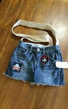 Wild & wild Black Denim bag w strap recycled jeans preowned free postage D4