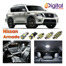 13 x White Interior LED Lights Package Kit for 2005 - 2014 2015 Nissan Armada