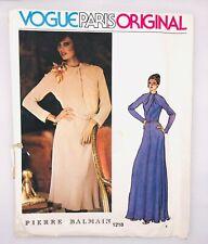 vtg VOGUE Paris Original Sew Pattern 1218 - Pierre BALMAIN Dress 8 uncut RARE