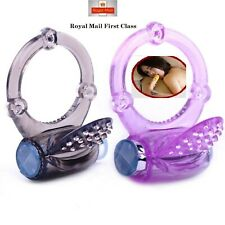 Mens Vibrating Cock Ring Stretchy Penis Sleeve Adult Sex Toys For Couples