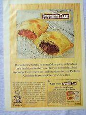 1970 Magazine Advertisement Page Pepperidge Farm Cherry Pie Tarts Coupon Ad